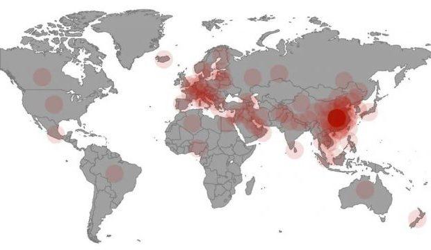 КОРОНАВИРУСҚА БАЙЛАНЫСТЫ 93 ХАЛЫҚАРАЛЫҚ ШАРА КЕЙІНГЕ ШЕГЕРІЛДІ